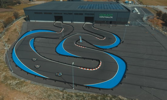 Gokartcentralen. Our combined indoor and outdoor track in the king's river.